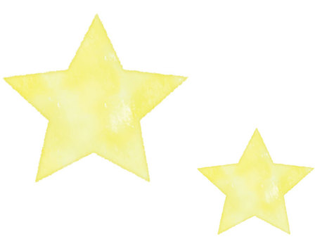 Watercolor style star