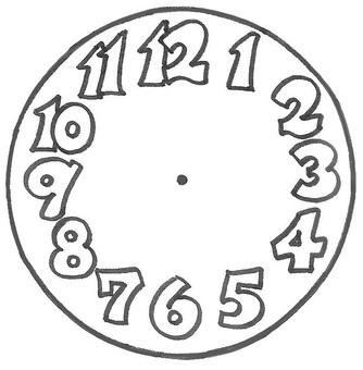 Clock needleless clock