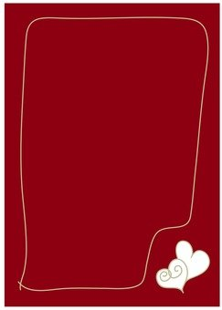 Heart pattern letter paper
