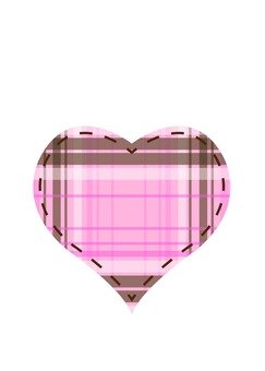 Plaid Heart (peach)
