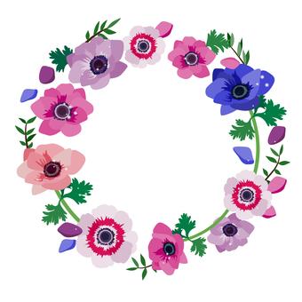 銀蓮花花圈框架