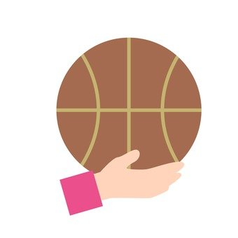 Hands - hand with basketball