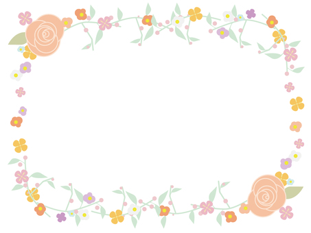 Flower decoration frame