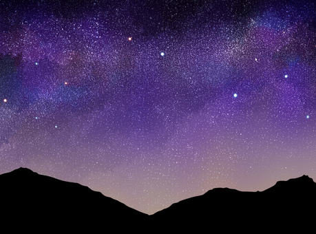 Starry background 06 (mountain)