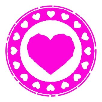 Antique Stamp Heart Pink 3
