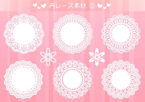 Circle lace material 2