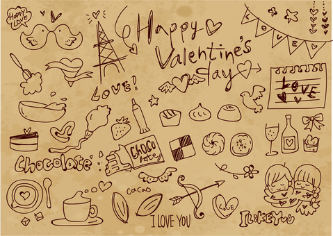 Hand-drawn illustrations that you can use with Valentine