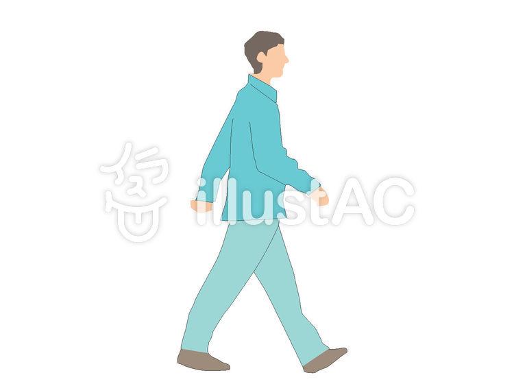 歩く男性 横向きイラスト No 1000130無料イラストならイラストac