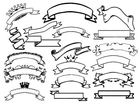 Monochrome ribbon frame (1)