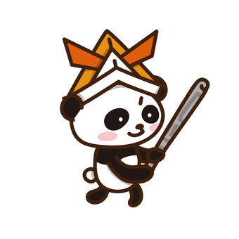 Panda-chan on a child's wearing kid's day