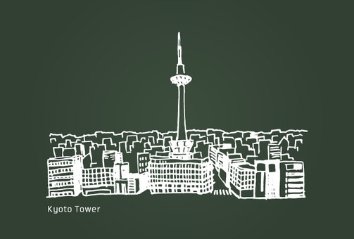 Landscape (Kyoto Tower · Blackboard)