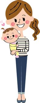 Baby hug My clothes Mama whole body