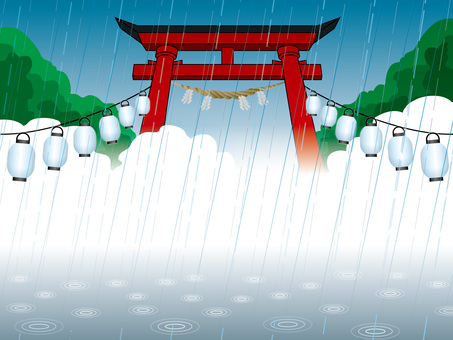 Rain drop (18) Torii of a shrine