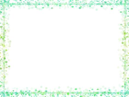 도트 & 사각 프레임 2 (녹색)