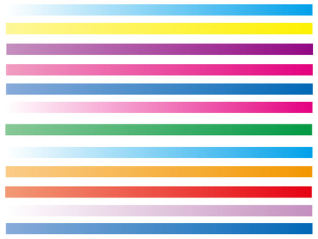 Colorful line gradation