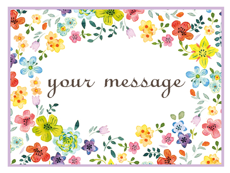 Watercolor message card