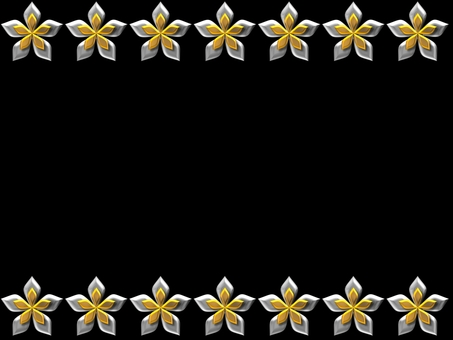 Flower frame upper and lower - gold silver