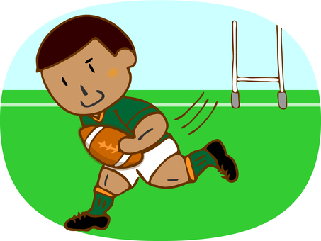 Rugby player (runs)