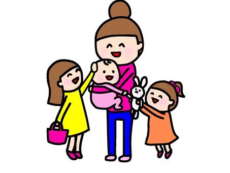 3 자매 엄마