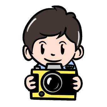 拿著照相機的人