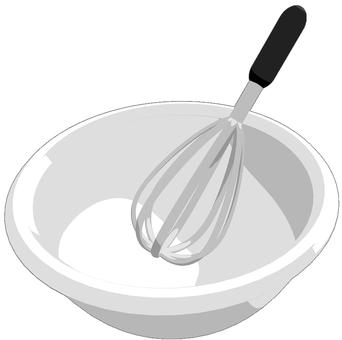 거품기와 그릇