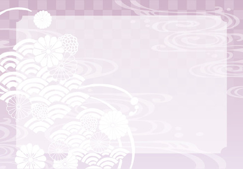 Background (Japanese Pattern 1 with Pink Frame)