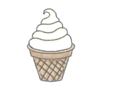 Crayon picture _ ice _ soft cream