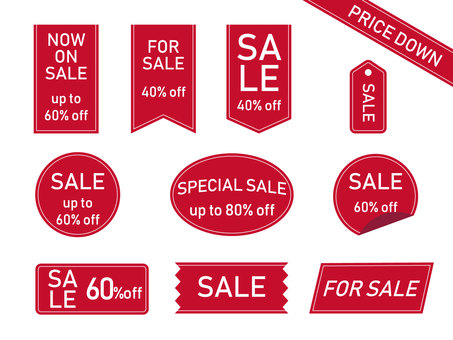 Sale tag (red)