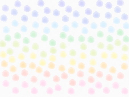 Watercolor dot Rainbow background
