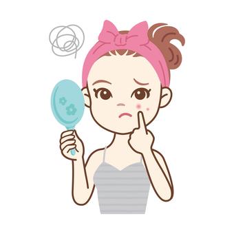 Skin care women_acne