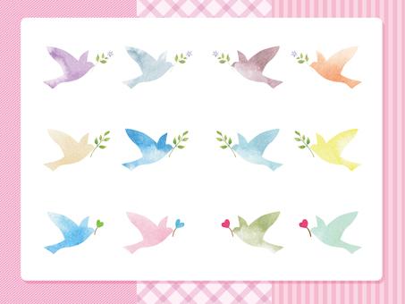 幸せの鳥-ピンク