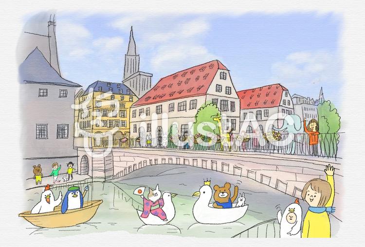 ヨーロッパの街並みイラスト No 636986無料イラストならイラストac