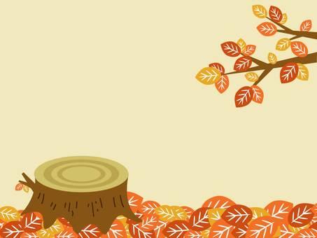 낙엽과 그루터기