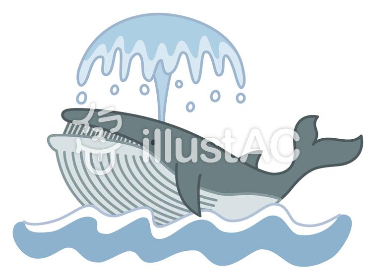 潮を吹くクジライラスト No 30508無料イラストならイラストac