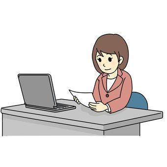 Desk work (read documents)