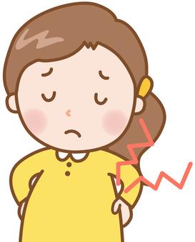 Pregnant woman: low back pain