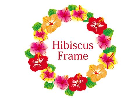 Hibiscus circular frame