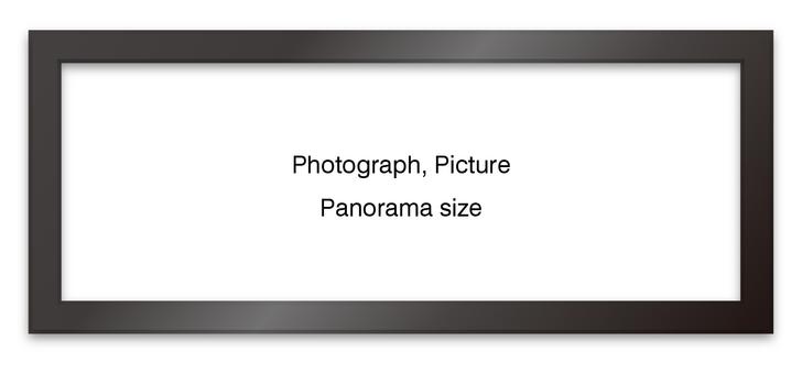 Panoramic frame black