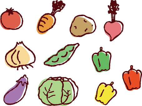 Assorted hand-painted wind vegetables