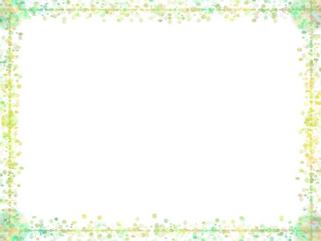 도트 & 사각 프레임 (녹색)