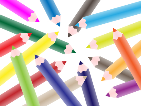 Colorful background _ colored pencil