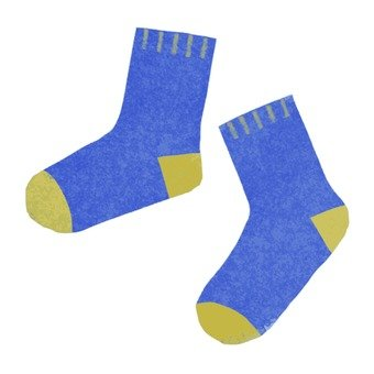 Hand drawn socks