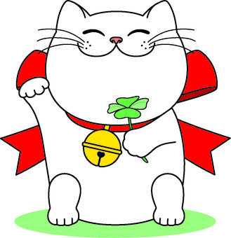 Big kittie with big ribbon smile
