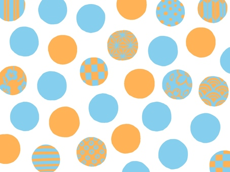 [Background material] Japanese pattern polka dots