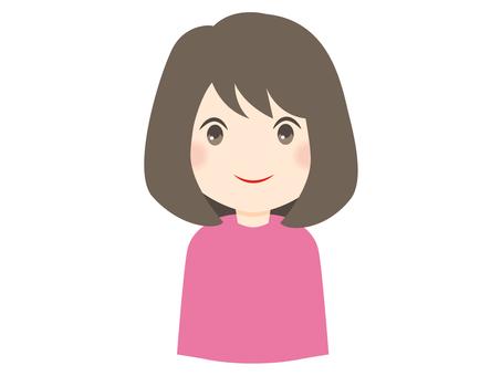 미소 짓는 여성