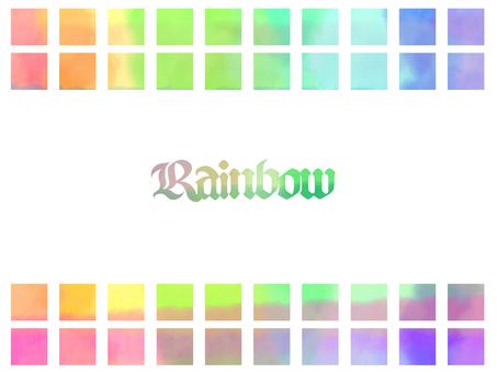 虹色四角フレーム