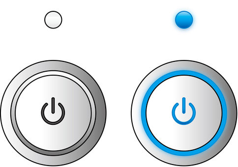 Power switch button button GUI