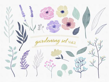 水彩手繪植物設置2