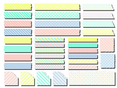 Masute style pattern set
