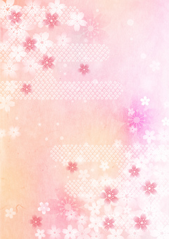Cherry Blossom_Pink Washi_Vertical Type 2425